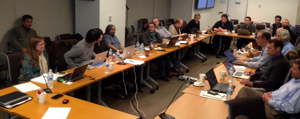 Lively discussion at the 3rd DSSAT Development Sprint at IFPRI, Washington, DC